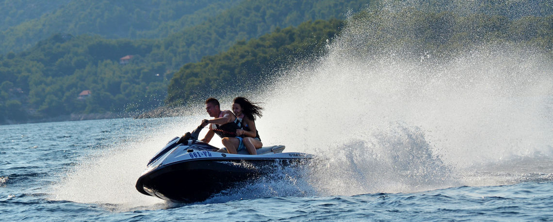 Hire a jet ski at Lido Rent Prizba Korcula